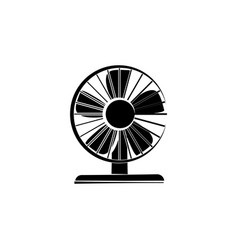 fan icon black on white background vector image