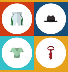 flat icon dress set of trunks cloth casual vector image
