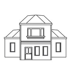 House traditional detailed modernn outline vector