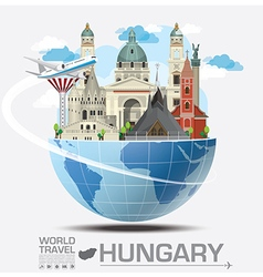 hungary landmark global travel and journey vector image