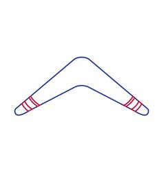 Isolated boomerang design vector