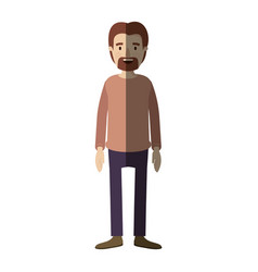 Light color shading caricature full body male vector