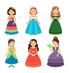 Little princess girls with tiaras vector image