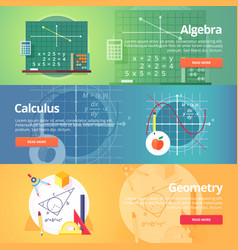 mathematical science algebra calculus geometry vector image