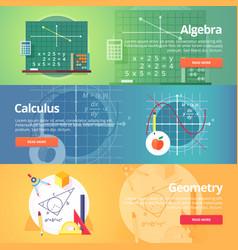 Mathematical science algebra calculus geometry vector