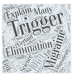 Migraine Trigger Elimination Dieting Word Cloud vector