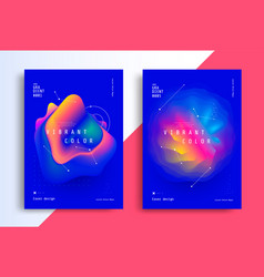 minimal poster layout with vibrant gradient blurs vector image