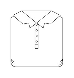 Monochrome silhouette of men polo shirt folded vector