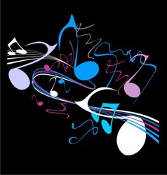 Notes and music vector