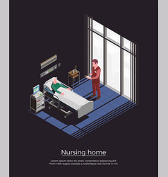 nursing home isometric background vector image