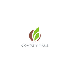 Organic abstract green leaf company logo vector