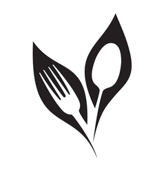 Organic restaurant symbol vector image