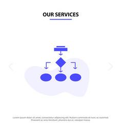 Our services flowchart algorithm business data vector