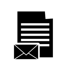 Paper document and message envelope icon vector