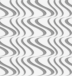Perforated paper with vertical uneven waves vector