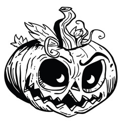 Pumpkin1 black vector