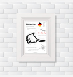 Race track picture on brick wall vector