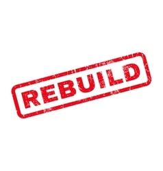 Rebuild Rubber Stamp vector