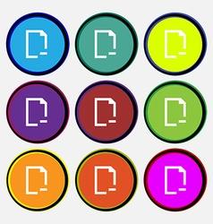 Remove Folder icon sign Nine multi colored round vector