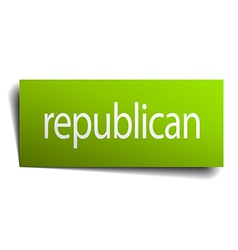 Republican square paper sign isolated on white vector