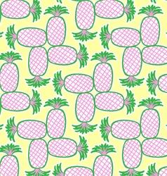 Retrospective pineapple pattern vector image