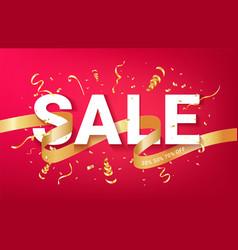 sale ads celebration banner template vector image
