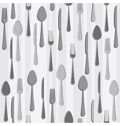 seamless cutlery vector image