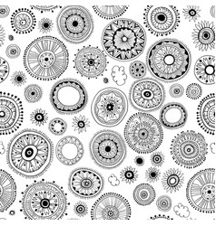 seamless pattern of mandala on a white background vector image