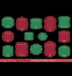 Set of vintage christmas frames vector