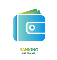 shape design finance icon banking wallet vector image