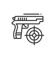 shooter - line design single isolated icon vector image