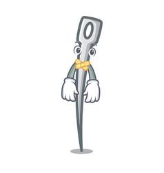 Silent needle mascot cartoon style vector