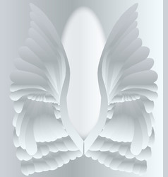 Silver angel wings vector