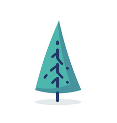 simple tree icon in flat style vector image