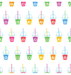 Smoothie cartoon pattern vector