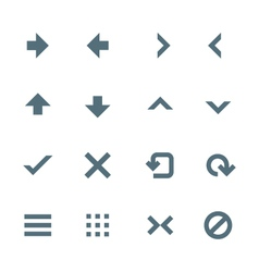 Solid grey various navigation menu buttons icons vector