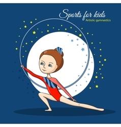 Sports for kids Artistic gymnastics vector