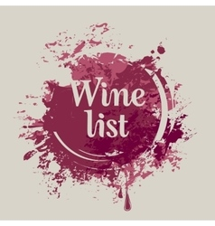 spots and splashes of Wine list vector image