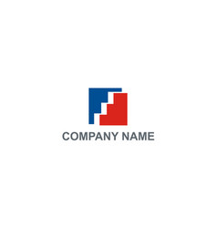 square construction company logo vector image