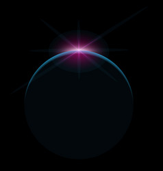 star rise over planet in space vector image