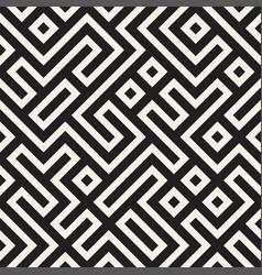 Stylish lines lattice ethnic monochrome texture vector