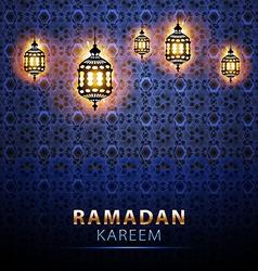Traditional lantern Ramadan Kareem art beautiful vector