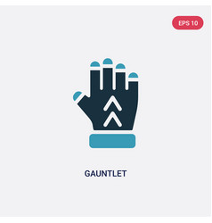 Two color gauntlet icon from shapes concept vector