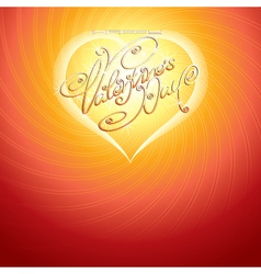 valentines card vector image vector image