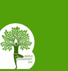 world environment day concept logo design - 5th vector image