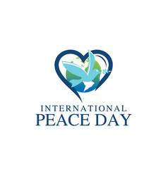 world peace day greeting card diverse people vector image