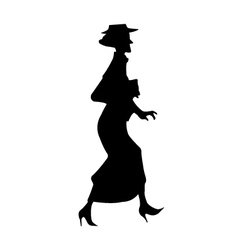 Elderly Lady Silhouette vector image vector image