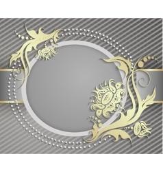 Elegant frame banner Luxury floral background vector image