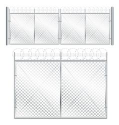 Metal Mesh Gate vector image