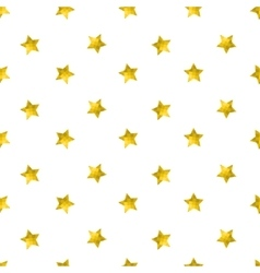 Seamless pattern with gold glitter stars vector image